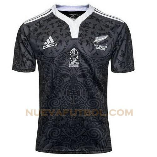 camiseta rugby all blacks 100th negro hombre