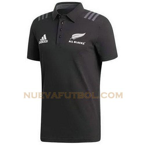 camiseta rugby all blacks polo 2018 negro hombre