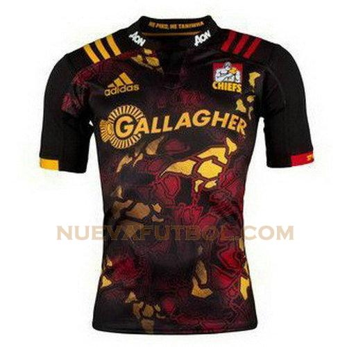 camiseta rugby chiefs 2017-2018 negro hombre
