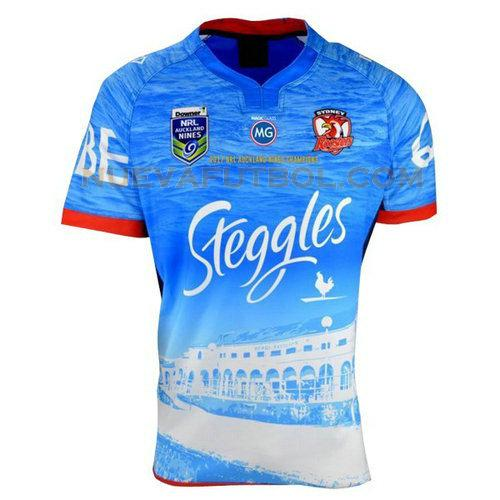 camiseta rugby sydney roosters 2017 azul hombre
