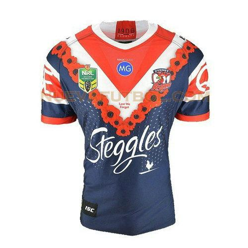 camiseta rugby sydney roosters 2018 azul hombre