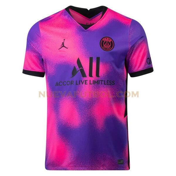 fourth camiseta paris saint germain 2020 2021 púrpura hombre