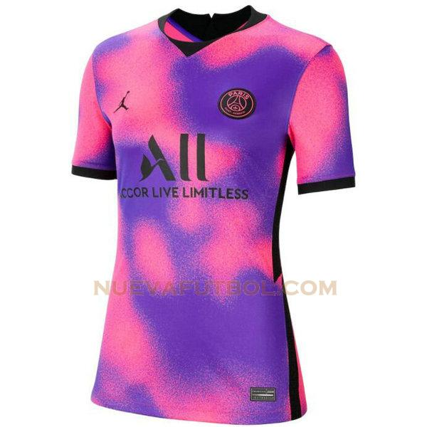fourth camiseta paris saint germain 2020 2021 púrpura mujer